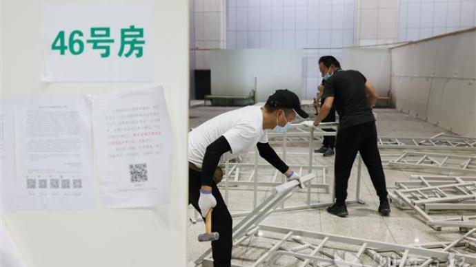 武汉江汉方舱医院正式关舱拆除,室内展览功能将逐步恢复