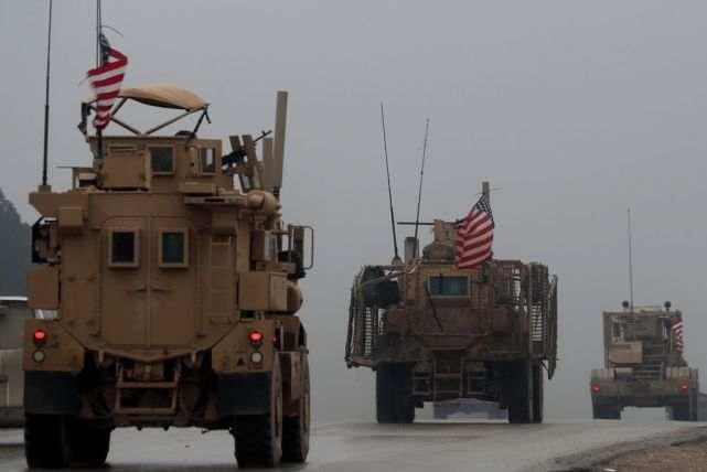 美军车辆在叙利亚 图源:人民视觉